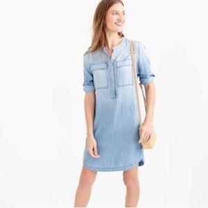 JCREW Chambray Denim Shirt Dress Size XL